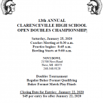 CLARENCEVILLE HIGH SCHOOL BOWLING OPEN DOUBLES CHAMPIONSHIP