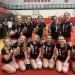 Girls Varsity Competitive Cheer finishes 1st place at League Meet #2