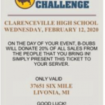 Support Athletics Booster Club – Buffalo Wild Wings
