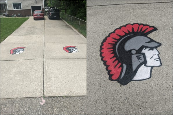 Trojan Head Painted at Your Residence