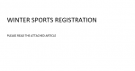 WINTER SPORTS REGISTRATION