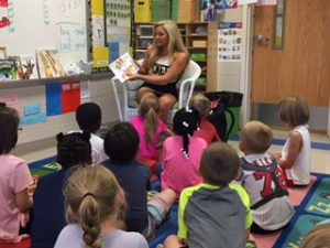 9.22 Student-Athletes read at Concord Elementary