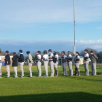 T L Hanna High School Varsity Baseball beat Woodmont High School 7-4