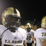T L Hanna High School Varsity Football beat J L Mann High School 42-0