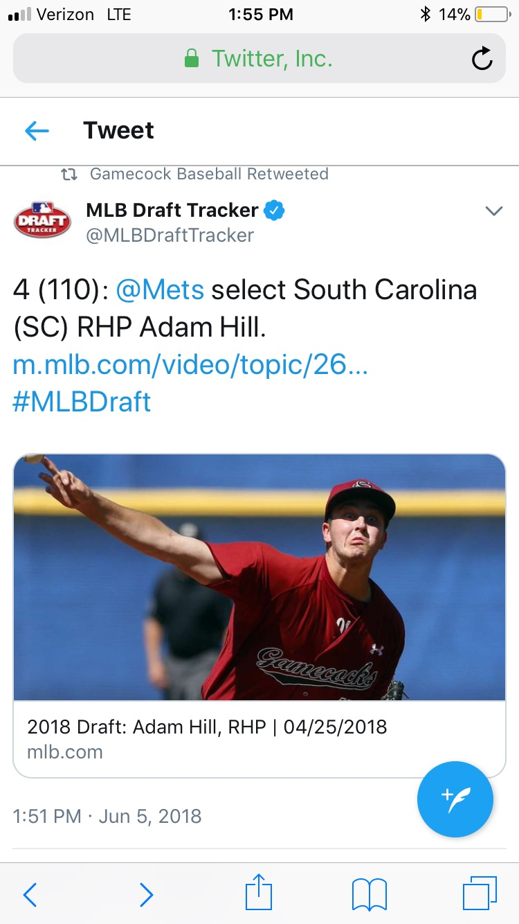 Former Jacket Hill Drafted by Mets in 4th Round!