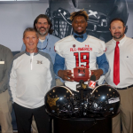 Pickens Receives All-America Game Jersey