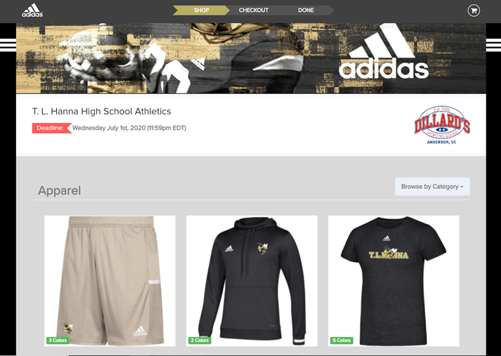 2019 TLH Adidas Apparel Store Now Open!