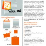 REMINDER:  Greenville County Schools Clear Bag Policy