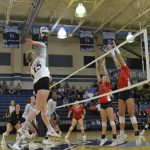 Varsity Volleyball beat JL Mann 3 – 1 at Mann