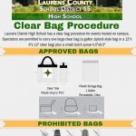 Reminder:  Clear Bag Policy at Laurens High School