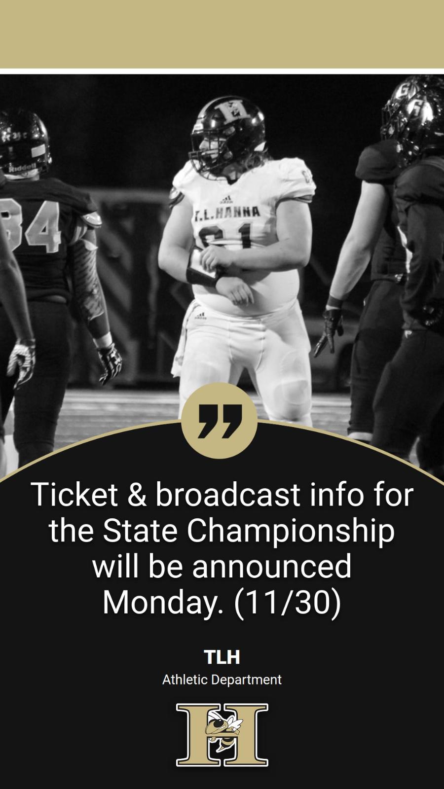 Football State Championship Info