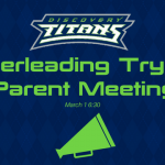 Cheerleading Tryouts Parent Meeting – March 1st