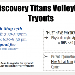 Volleyball Tryouts for the 2018-2019 Season Coming Soon…..