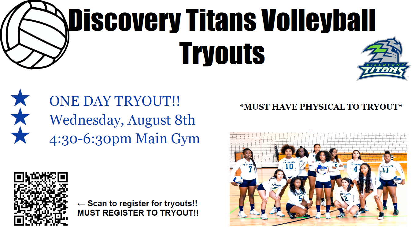 VOLLEYBALL TRYOUT!! ONE DAY ONLY!!