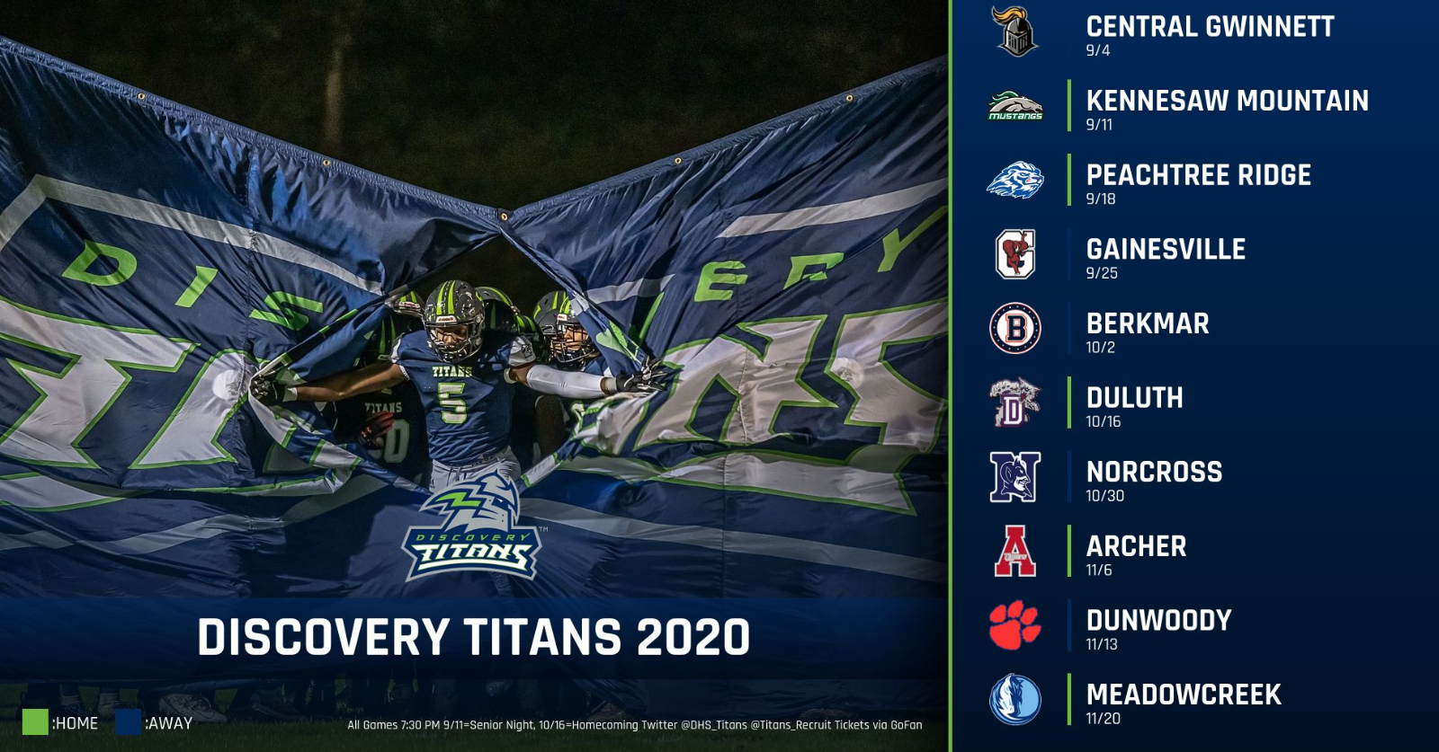 Discovery Titans Football Preview, Schedule and Roster