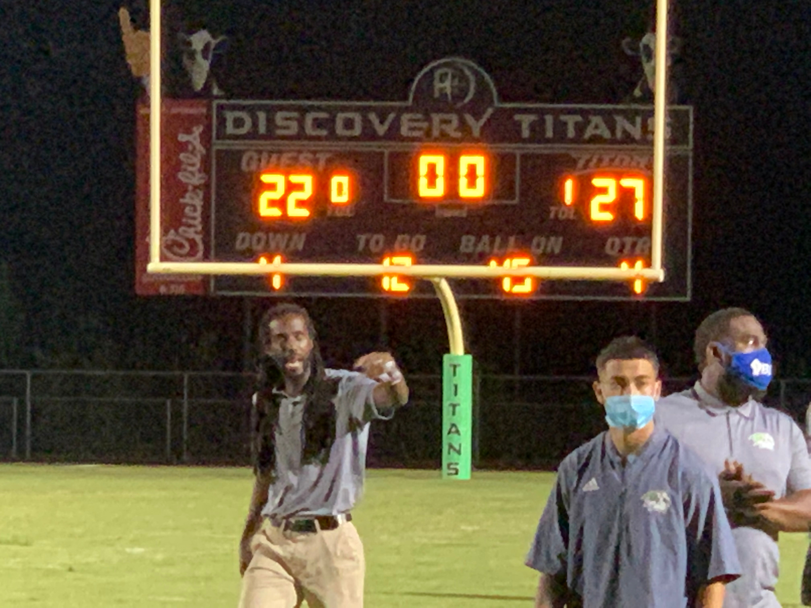 Discovery Titans vs. Kennessaw Mountain HS 9-11-20    Titans win 27-22!!
