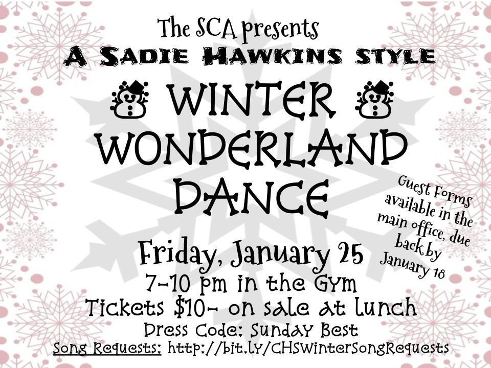 Winter Wonderland Dance – Jan 25th