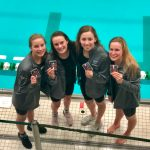 Girls Varsity Swimming earns First Medals at States, finishes 20th place