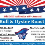 18th Annual Old Mill Boosters Bull and Oyster Roast – Friday, March 15