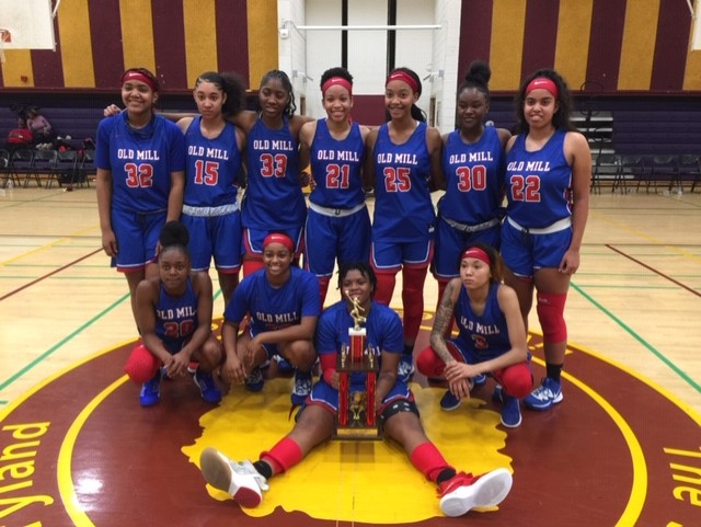 Old Mill Girls Basketball Wins the 695 Holiday Hoops Tournament
