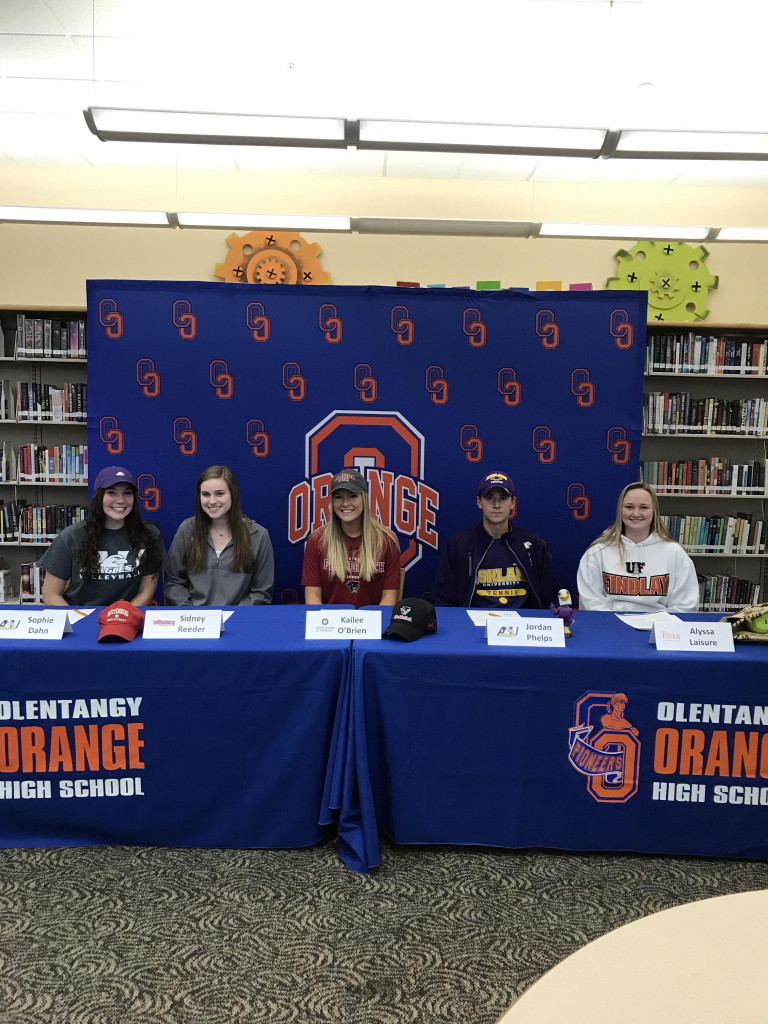 Congratulations to our 5 student athletes who signed their letters of intent today!