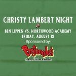 Christy Lambert Night Sponsored by Bojangles' Friday