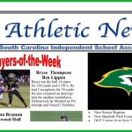 Bryce Thompson Named One of the SCISA Players of the Week