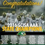 2016 SCISA FOOTBALL STATE CHAMPIONS!