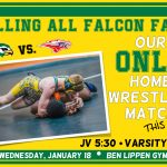 Wednesday, Jan 18 Falcon Wrestling Home vs. Hammond