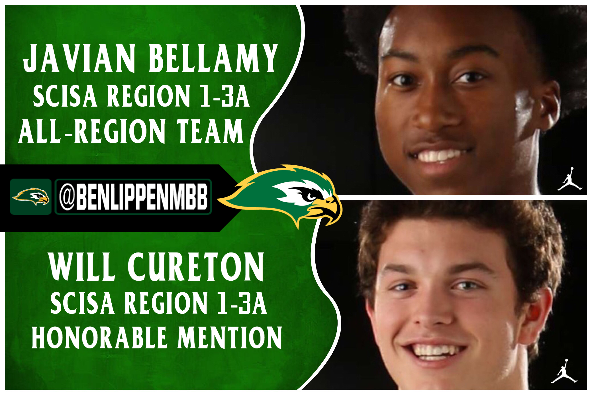 Falcons Bellamy & Cureton Earn Region Basketball Honors