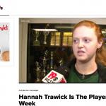 Falcon Hannah Trawick Named @WLTX News 19 Bojangles' Player of the Week