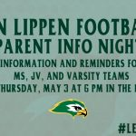 Falcon Football Parent Info Night May 3