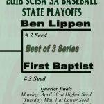 Falcon Baseball Team Starts SCISA 3A State Playoffs Monday, April 30