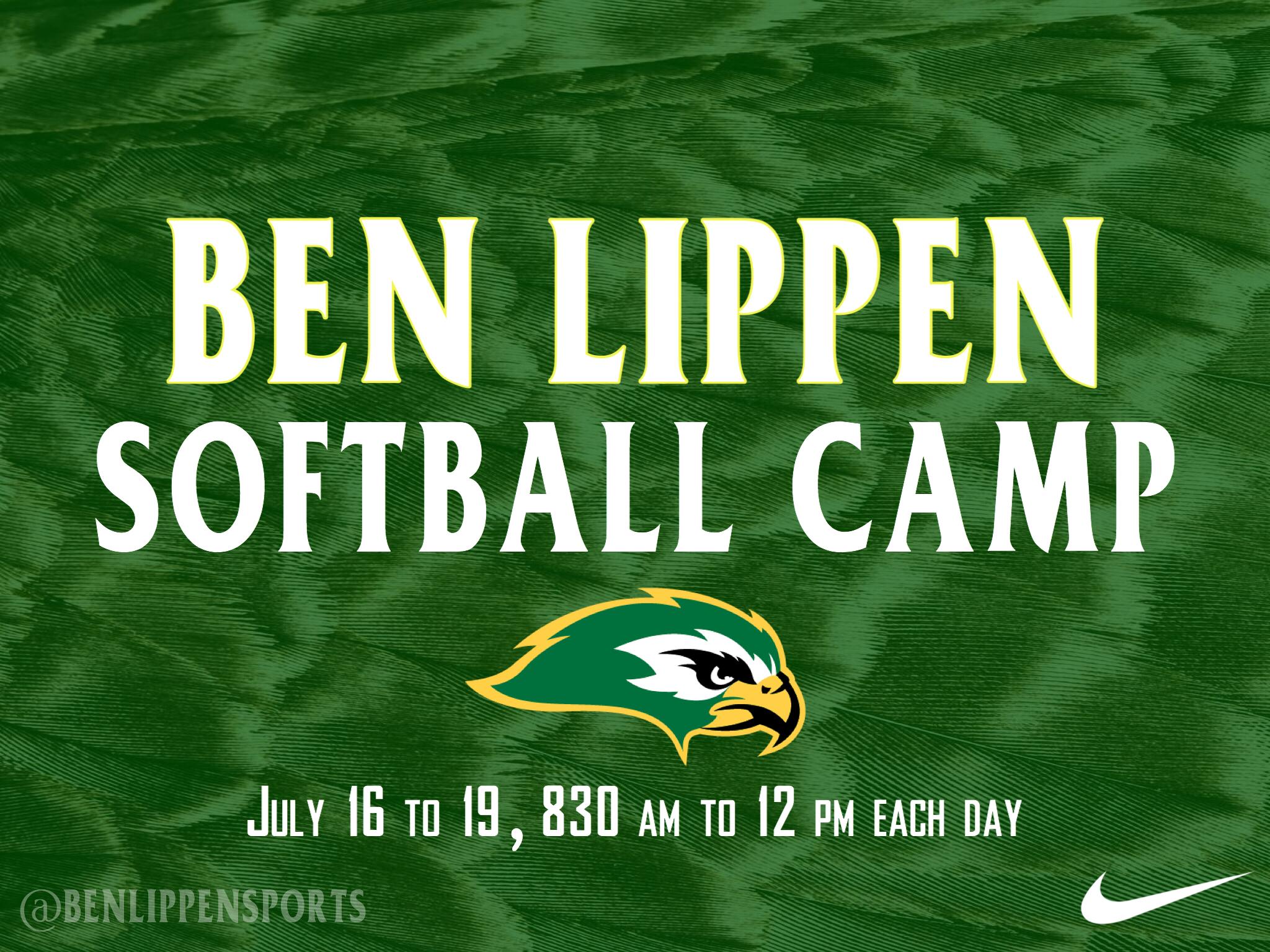 Falcons Softball Youth Camp, July 16-19