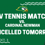 JV Tennis Match Cancelled