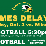 Oct 3 MS Football Game Time Change