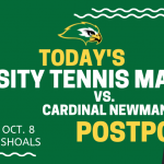 V Tennis Match Today POSTPONED!