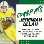 Jeremiah Ullah Nominated for Mr. Richland County Football Player of the Year