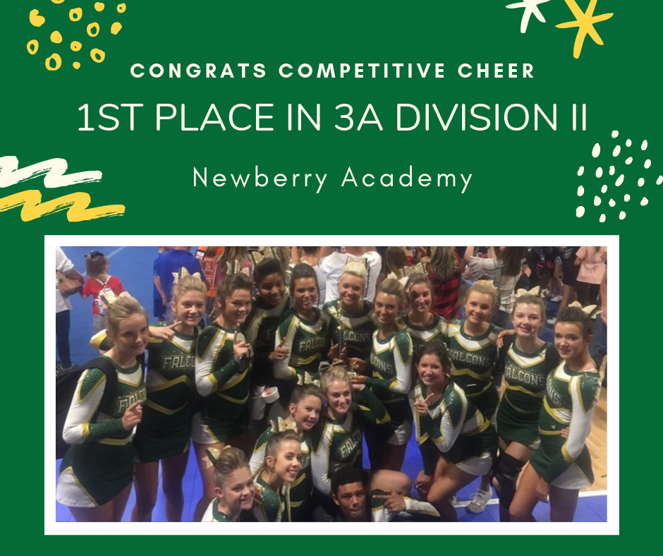 Competitive Cheer Wins First Place Trophy