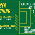 Soccer Conditioning Begins TUESDAY, 10/29!