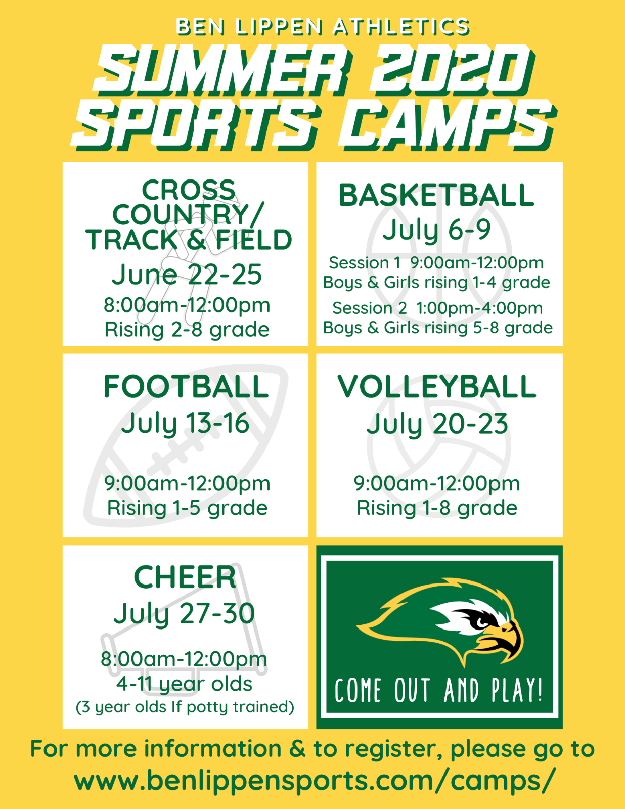 MAKE YOUR SUMMER PLANS NOW!