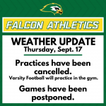 WEATHER UPDATE: Thursday, Sept. 17