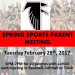 2017 Spring Sports Parent Meeting