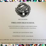 Firelands Volleyball Honored with State Academic Award