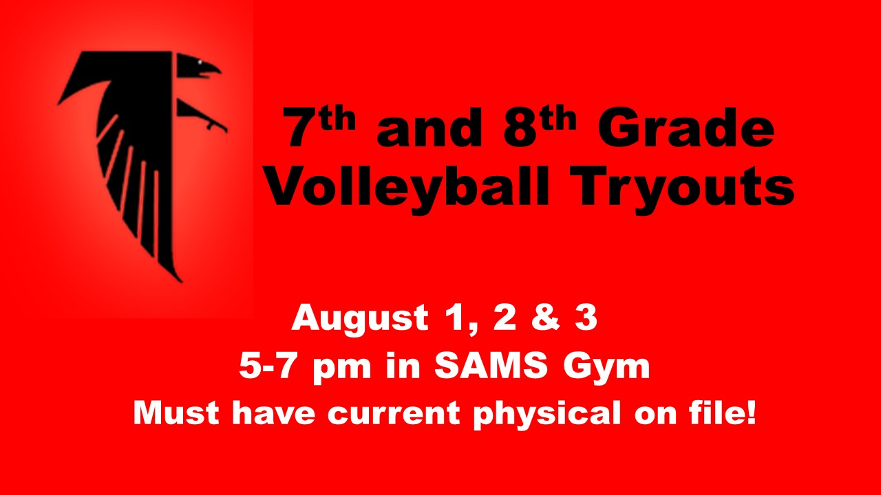 7th/8th Grade Volleyball Tryout Information