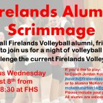Firelands Volleyball Alumni Scrimmage on August 8th!