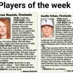 Rounds and Urban receive Player of the Week Honors