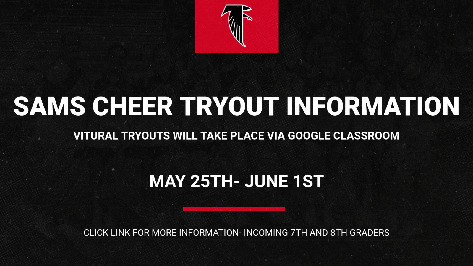 SAMS Virtual Cheerleading Tryout Information