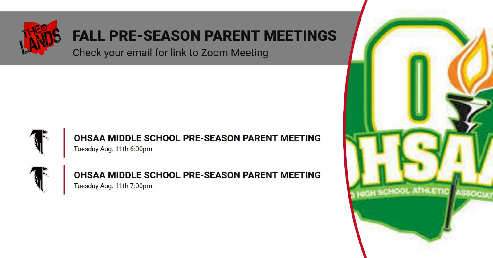 Fall 2020 OHSAA Pre-Season Parent Meeting