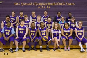 RHS Raider Special Olympic Basketball Team